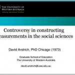 2013_10 Andrich Controversy measurement social sciences